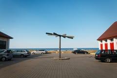 Die Rettungsstation auf dem Toila-Strand Lizenzfreie Stockfotografie