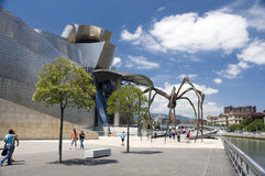 Die riesige Spinne, das Guggenheim Museum in Bilbao Stockfotografie