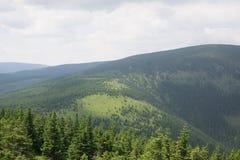 Die riesigen Berge Stockbild