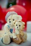 Die Ringe auf den Blumen, in einem Kasten, auf einem weißen Gewebe auf Spielwaren, Farben, Heiratsdetails, Eheringe Lizenzfreie Stockfotografie