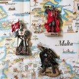 Die Ritter von Malta sind Andenkenspielwaren stockfotos