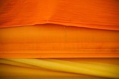 Die Robe des buddhistischen Mönchs Stockbild