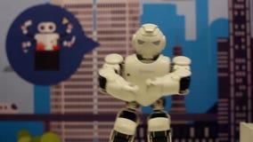 Die Robotertänze Moderne Robotertechnologien Künstliche Intelligenz Kybernetische Systeme heute HD stock video footage