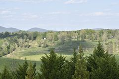 Die Rolling Hills des Jaspisses, GA stockbild