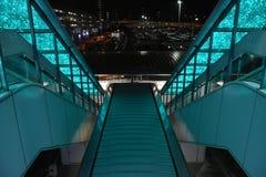 Die Rolltreppe des grünen Lichtes Lizenzfreies Stockfoto