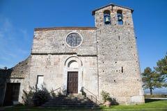 Die romanische Kirche von Sankt Nikolaus - Italien Lizenzfreies Stockfoto