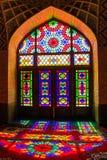 Die rosa Moschee - Nasir-ol Molk-Moschee, Shiraz, der Iran stockfoto