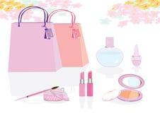 Die rosafarbene Stimmung Stockfoto