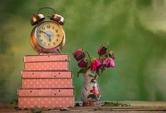 Die Rosen verwelken Liebe verloren Stockbild