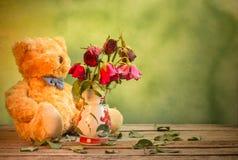 Die Rosen verwelken Liebe verloren Lizenzfreie Stockfotografie