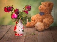 Die Rosen verwelken Liebe verloren Stockbilder