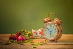 Die Rosen verwelken Liebe verloren Stockfotos