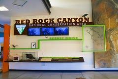 Die rote Felsen-Schlucht-Besucher-Mitte Lizenzfreies Stockbild