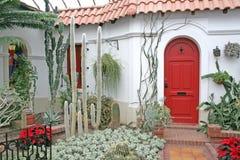 Die rote Tür. Stockbilder