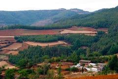 Die rote Terrasse von Yunnan, China Lizenzfreies Stockbild