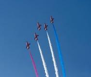 Die roten Pfeile zeigen Team Weston Air Festival-Weston-s-Stute Somerset an Lizenzfreie Stockbilder