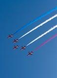 Die roten Pfeile zeigen Team Weston Air Festival-Weston-s-Stute Somerset an Lizenzfreies Stockbild