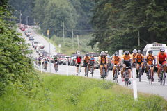 Die 2014 RSVP Seattle zu Vancouver-Radtour Stockfoto