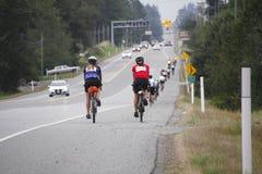 Die 2014 RSVP Seattle zu Vancouver-Radtour Lizenzfreie Stockfotos