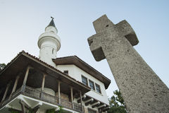 Die ruhige Koexistenz der zwei Religionen Lizenzfreie Stockbilder