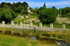Die Ruinen der alten Regelung Stockbild