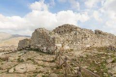 Die Ruinen der alten Stadt von Segesta lizenzfreie stockfotografie