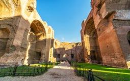 Die Ruinen der Bäder von Caracalla in Rom Lizenzfreies Stockbild