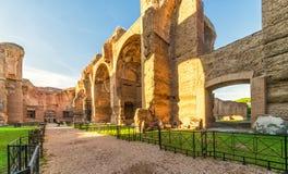 Die Ruinen der Bäder von Caracalla in Rom Lizenzfreie Stockfotografie