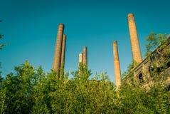 Die Ruinen der Fabrik lizenzfreies stockfoto