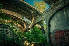 Die Ruinen der Fabrik lizenzfreie stockfotografie