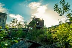 Die Ruinen der Fabrik Stockfotos