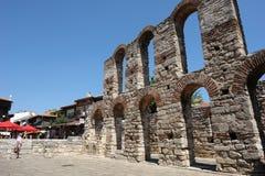 Die Ruinen der Kirche. Lizenzfreies Stockbild