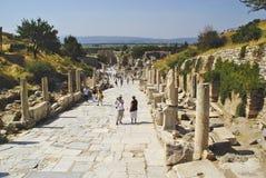 Die Ruinen der römischen Stadt von Ephes, in der Türkei Stockfotografie