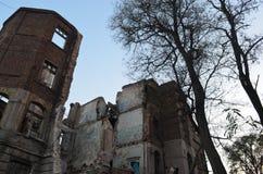 Die Ruinen des alten Krankenhauses lizenzfreies stockbild