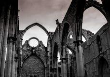Die Ruinen des Convento tun Carmo stockbild