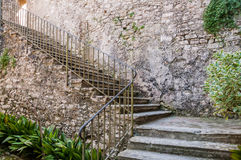 Die Ruinen des Klosters Sant-Retters in Erice, Sizilien Lizenzfreie Stockbilder