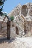 Die Ruinen des Krankenhauses St. Mary Germanica in der alten Stadt von Jerusalem, Israel Stockbild