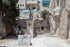 Die Ruinen des Krankenhauses St. Mary Germanica in der alten Stadt von Jerusalem, Israel Lizenzfreie Stockfotografie