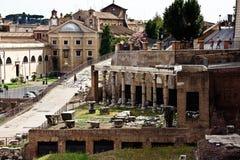 Die Ruinen des römischen Forums Lizenzfreies Stockfoto