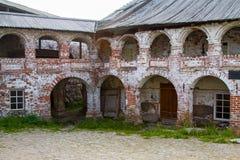 Die Ruinen des Solovetsky-Klosters Stockfotos