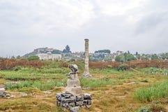 Die Ruinen des Tempel der Artemiss Stockfotos