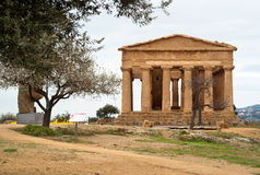 Die Ruinen des Tempels von Concordia, Agrigent Stockbild