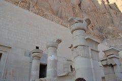 Die Ruinen des Tempels von Nefertari Egypt Stockfotografie