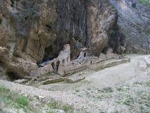 Die Ruinen eines Altars Stockbild