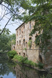 Die Ruinen eines alten Schlosses Stockbilder