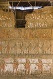 Die Ruinen eines Moche-Tempels Stockfotografie