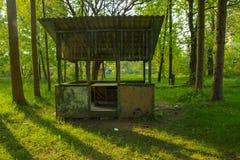 Die Ruinen eines verlassenen Sanatoriums der Zeiten des Sowjets lizenzfreie stockbilder
