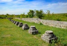 Die Ruinen von Adamclisi Roman Fort in Dobrogea Rumänien Lizenzfreie Stockfotos