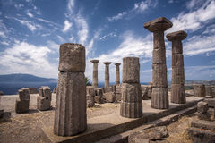 Die Ruinen von Assos Lizenzfreie Stockfotografie