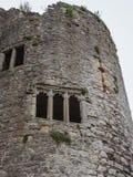 Die Ruinen von Chepstow-Schloss, Wales Lizenzfreies Stockfoto